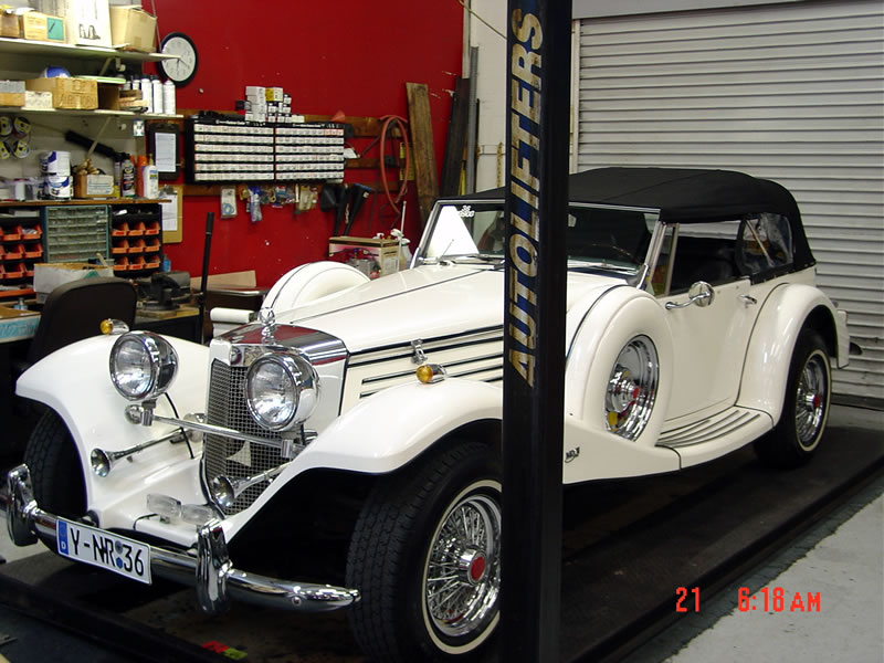 1936 mercedes 540k replica baron from classic roadsters in fargo in 1988 powered by a. Black Bedroom Furniture Sets. Home Design Ideas