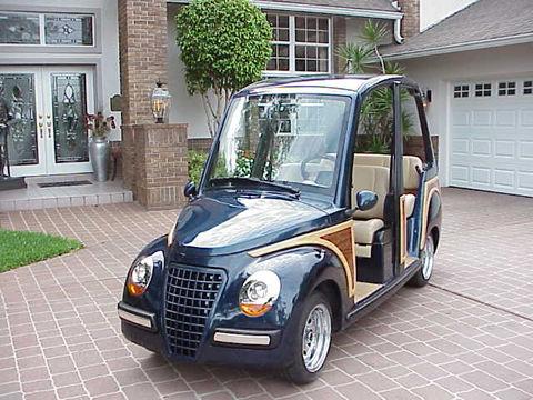 2002 Lido 4 Seater Woody Golf Cart/Car Street Legal 25 MPH-CD Player Woody Golf Cart Wheels on 2002 chrysler gem cart, car cart, box cart,