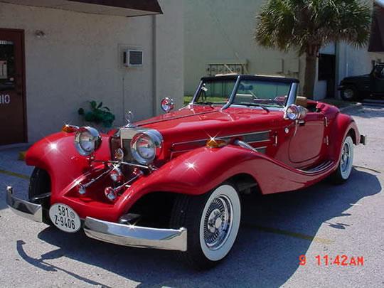 1934 mercedes 500k replica heritage model red tan v8 for 1934 mercedes benz 500k heritage replica