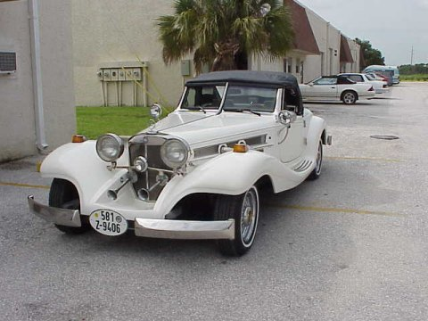 1934 mercedes 500k heritage replica white for 1934 mercedes benz 500k heritage replica