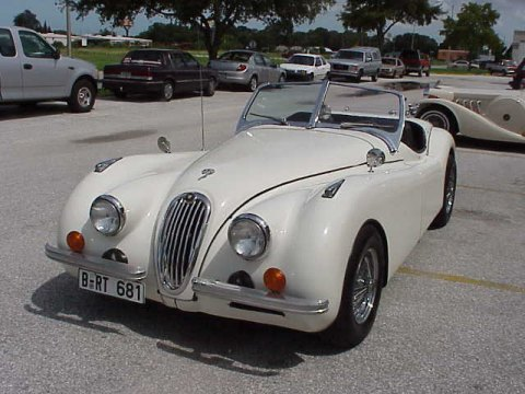 1952 Jaguar Xk120 Replica Cream