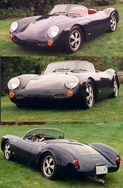 1955 porsche 550 spyder blue replica - Porsche Spyder 550 Replica