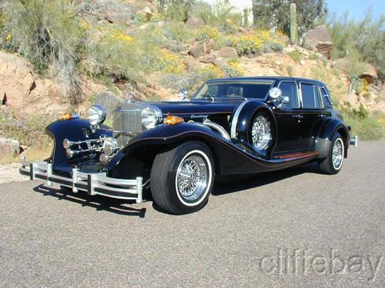 1988 Excalibur Series V 4 Door Touring Sedan Rare Black