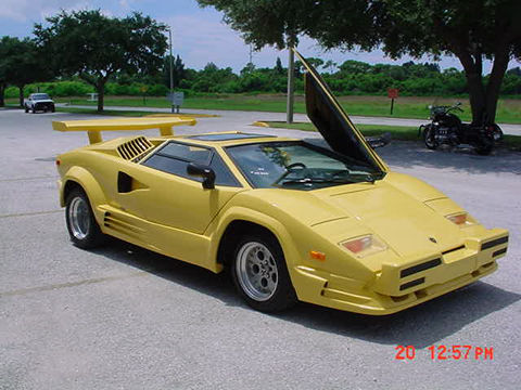 1989 lamborghini countach 25th anniversary yellow. Black Bedroom Furniture Sets. Home Design Ideas